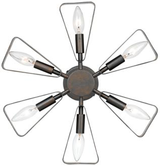 "Crystorama Luna 16 3/4""H Raw Steel 6-Light Wall Sconce (10C00) 10C00"