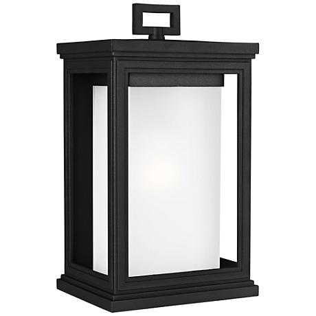 "Feiss Roscoe 13 1/2"" High Textured Black Outdoor Wall Light"