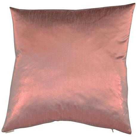 "Metaux Pink 24"" Square Decorative Throw Pillow"