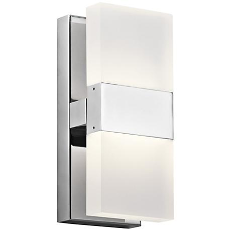 "Elan Haiden 11 1/4"" High Chrome LED Wall Sconce"