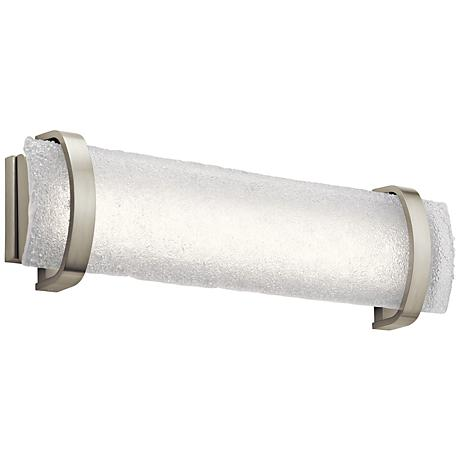"Elan Adara 25 1/4"" Wide Brushed Nickel LED Bath Light"