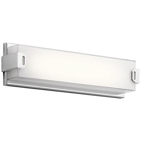 "Elan Xeo 18"" Wide Chrome LED Bath Light"