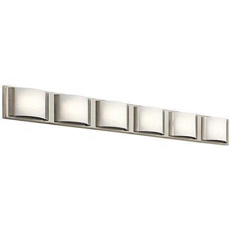 "Elan Bretto 44 3/4"" Wide Brushed Nickel LED Bath Light"
