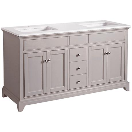 "Arianny 59"" Taupe Double Sink Bathroom Vanity"