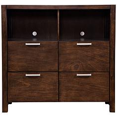 Austin Modern Chestnut 4-Drawer TV Media Chest