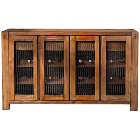 Shasta Salvaged Natural Sideboard with Wine Storage