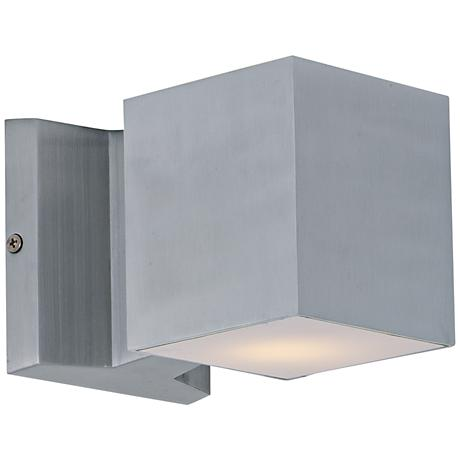 "Maxim Lightray 4""H Square Aluminum LED Outdoor Wall Light"