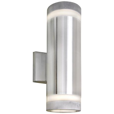 "Lightray 12""H Cylindrical Aluminum LED Outdoor Wall Light"