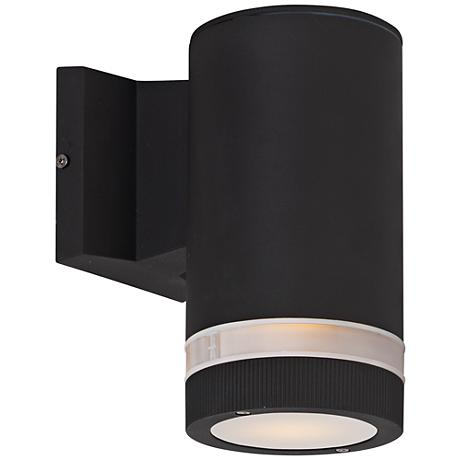 "Lightray 8"" High Cylindrical Bronze LED Outdoor Wall Light"