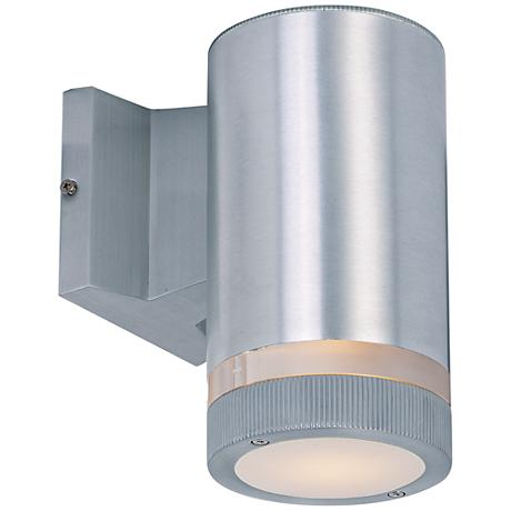 "Lightray 8"" High Cylindrical Aluminum LED Outdoor Wall Light"