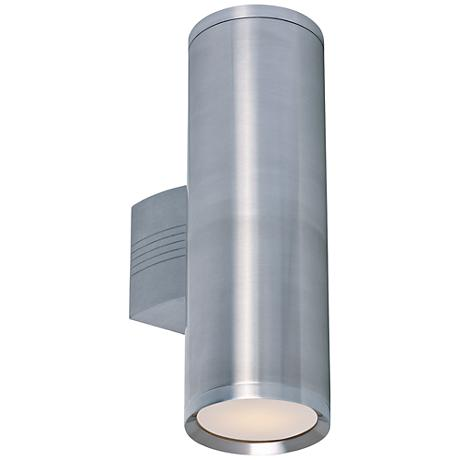 "Lightray 15 3/4""H Brushed Aluminum LED Outdoor Wall Light"