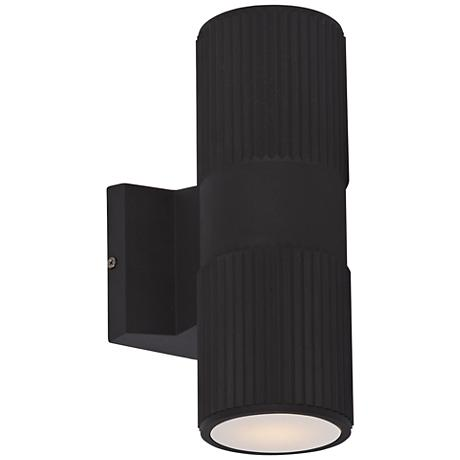 "Lightray 12"" High Cylindrical Bronze LED Outdoor Wall Light"