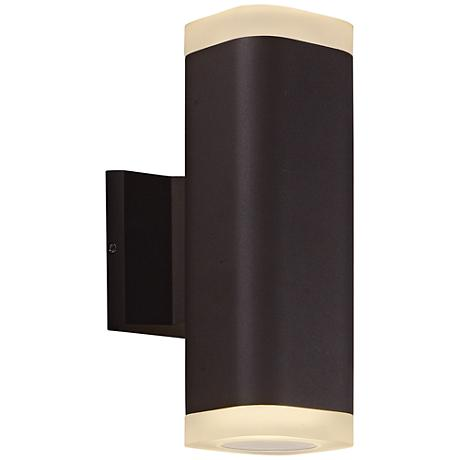 "Lightray 10 1/4"" High Square Bronze LED Outdoor Wall Light"