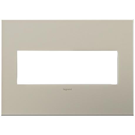 adorne® Ashen Tan 3-Gang Snap-On Wall Plate