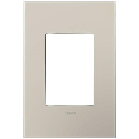 Adorne Greige 1-Gang 3-Module Snap-On Wall Plate