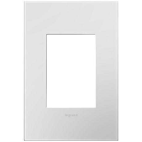 Adorne Powder White 1-Gang 3-Module Snap-On Wall Plate