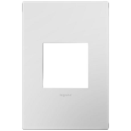 Adorne Powder White 1-Gang Snap-On Wall Plate