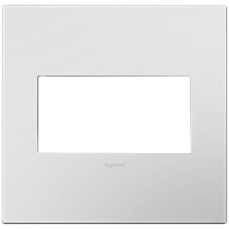 Adorne Powder White 2-Gang Snap-On Wall Plate