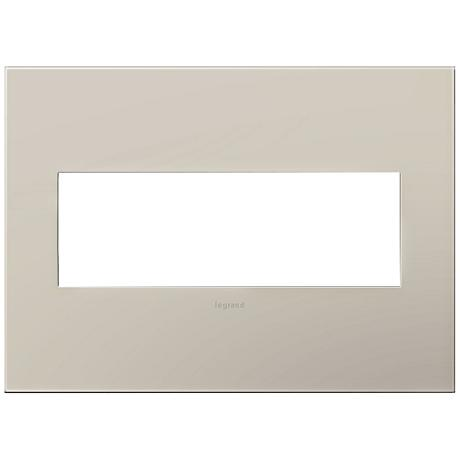 Adorne Greige 3-Gang Snap-On Wall Plate
