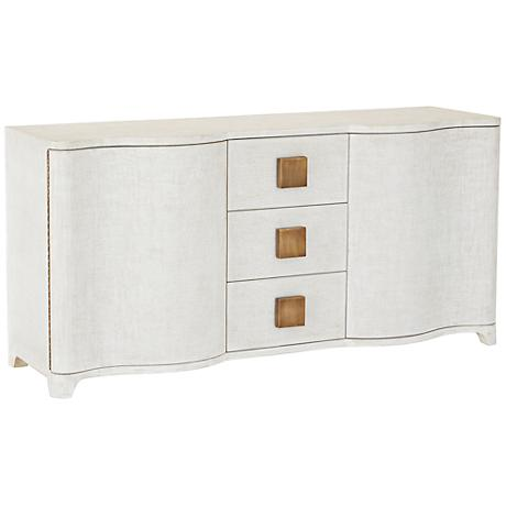 Global Views Toile Belgian Linen 3-Drawer Credenza