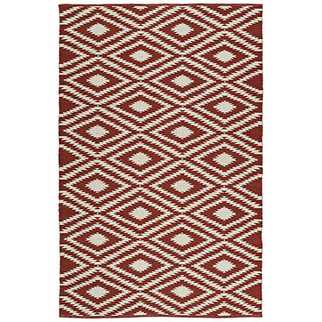 Kaleen Brisa BRI02-06 Brick Outdoor Area Rug