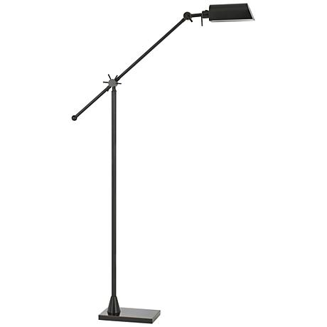 Kaline LED Dark Bronze Adjustable Pharmacy Floor Lamp