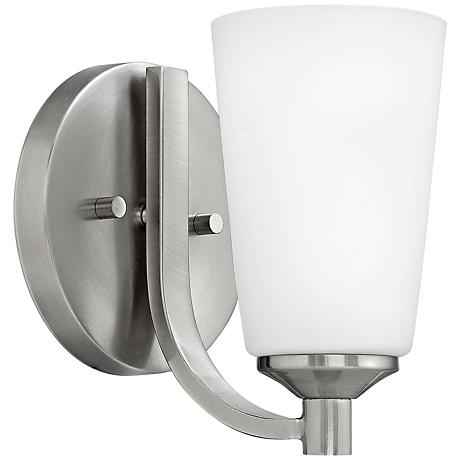 "Hinkley Sadie 7 3/4"" High Brushed Nickel Wall Sconce"