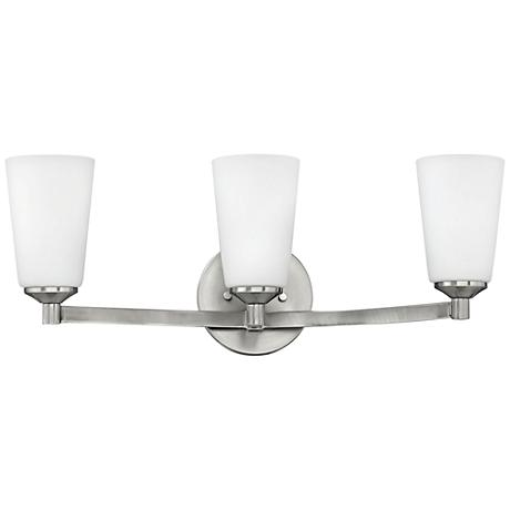 "Hinkley Sadie 23 1/4"" Wide Brushed Nickel Bath Light"