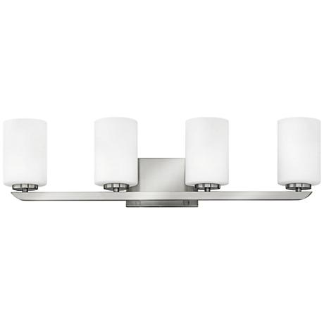 "Hinkley Kyra 30"" Wide Brushed Nickel 4-Light Bath Light"