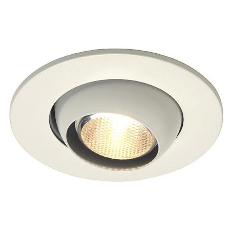 "Juno 4"" Line Voltage White Eyeball Recessed Light Trim"
