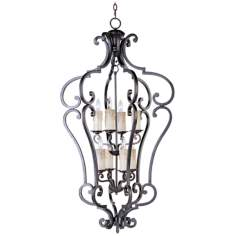 Empress Colonial Umber Finish 8-Light Pendant Chandelier