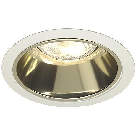 "Juno 6"" Line Voltage Gold Alzak Recessed Light Trim"