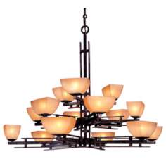 "Lineage Collection 35 1/4"" High Three Tiered Chandelier"