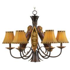 Grand Old River Candelabra Downlight Canoe Chandelier