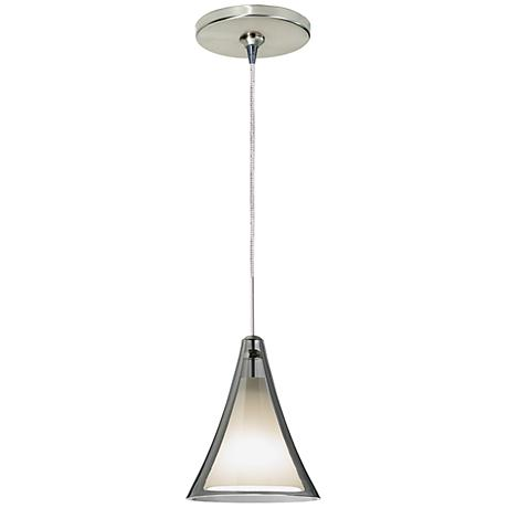 "Mini Melrose II 5""W Nickel LED Freejack Mini Pendant"