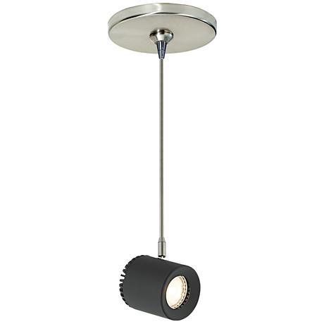 "Tech Lighting Burk 3 1/2"" Wide Black LED Mini Pendant"