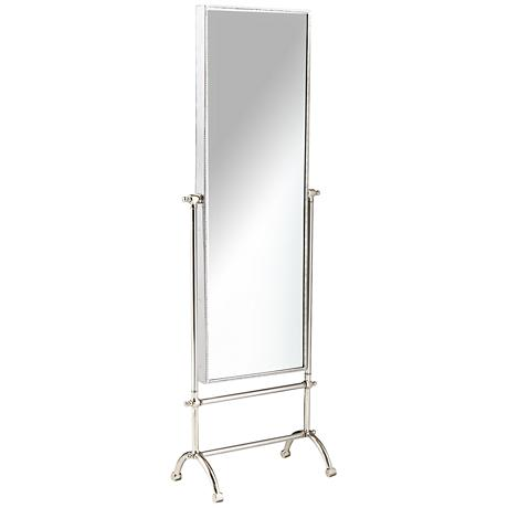 "Cassius Steel 19 1/4"" x 58 1/4"" Full Length Floor Mirror"