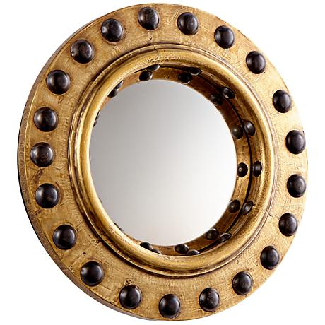 "Cyan Design Periscope Brass 11 3/4"" Round Wall Mirror"