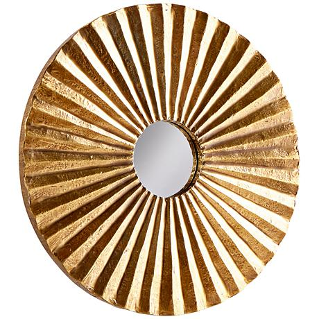 "According to You Vintage Brass 12"" Round Wall Mirror"