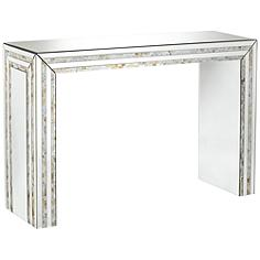 Lillie Mirrored Mosaic Console Table
