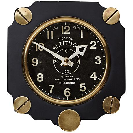 "Altimeter 7 1/2""H Black World War II Aircraft Wall Clock"
