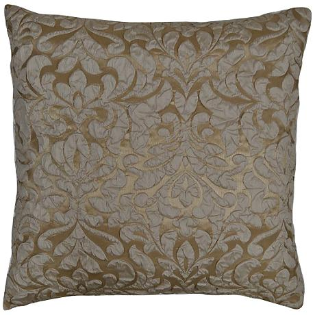 "Scala Champagne 24"" Square Decorative Throw Pillow"