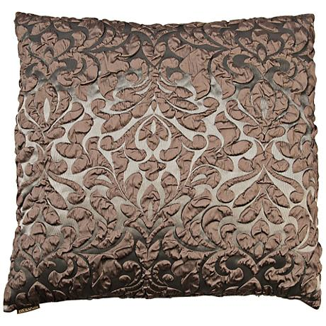 "Scala Mink 24"" Square Decorative Throw Pillow"