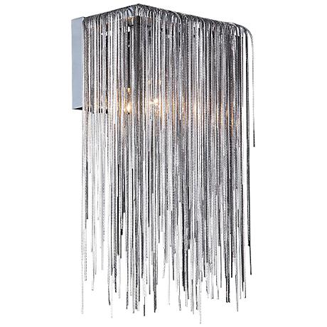 "Avenue Fountain Blvd. 14"" High Chrome Wall Sconce"