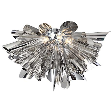 "Avenue Bowery Ln. 20"" Wide Chrome LED Ceiling Light"