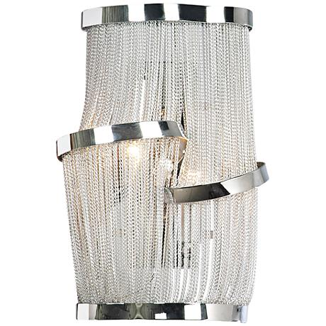 "Avenue Mulholland Dr. 15"" High Polished Chrome Wall Sconce"