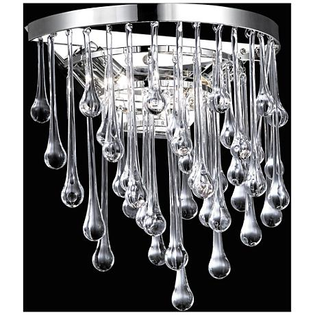 "Hollywood Blvd. 14"" High Polished Nickel Round Wall Sconce"