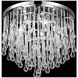 "Avenue Hollywood Blvd. 16""W Polished Nickel Ceiling Light"
