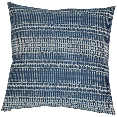 "Billie Blue 24"" Square Decorative Throw Pillow"
