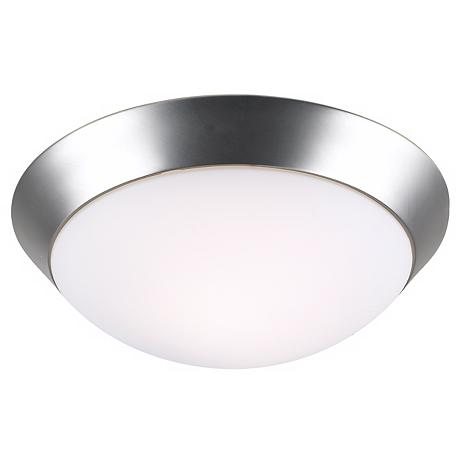 "Davis 11"" Wide Brushed Steel Ceiling Light Fixture"